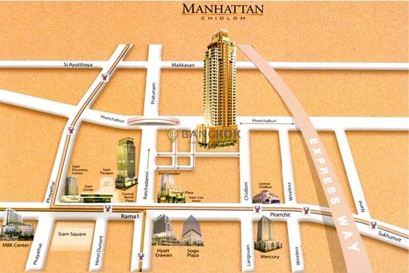 ให้เช่าคอนโด 88.8 ตร.ม.MANHATTAN  ชั้น8 ตกแต่ง พร้อมอยู่